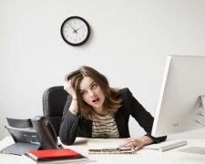стресс на работе, работа в офисе, стресс