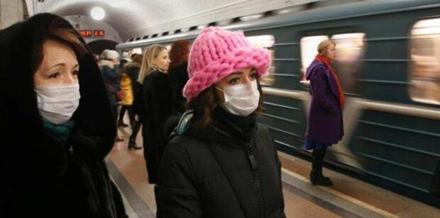 метро, маски, вирус