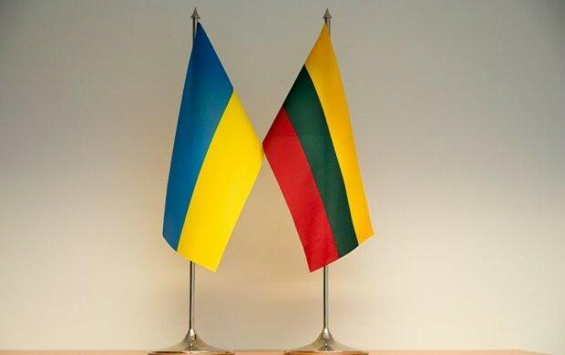Украина Литва флаги