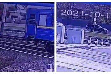 Юную девушку сбил поезд на переезде под Харьковом: видео момента