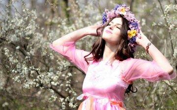 весна, счастье, радость, женщина