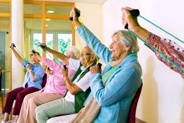 гены молодости, день пожилых людей, старики, спорт