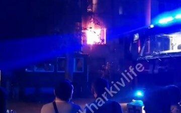 В Харькове вспыхнул пожар в общежитии, эвакуировали десятки людей: фото и детали ЧП