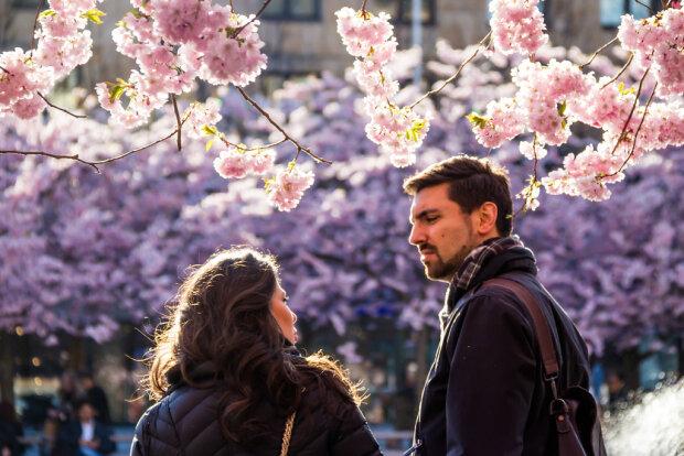 весна, лето, пара, счастье, радость