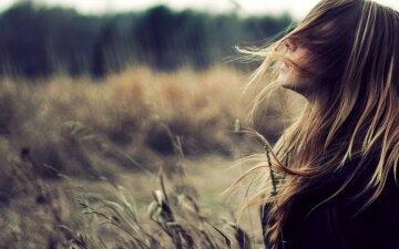 одиночество, женщина, осень