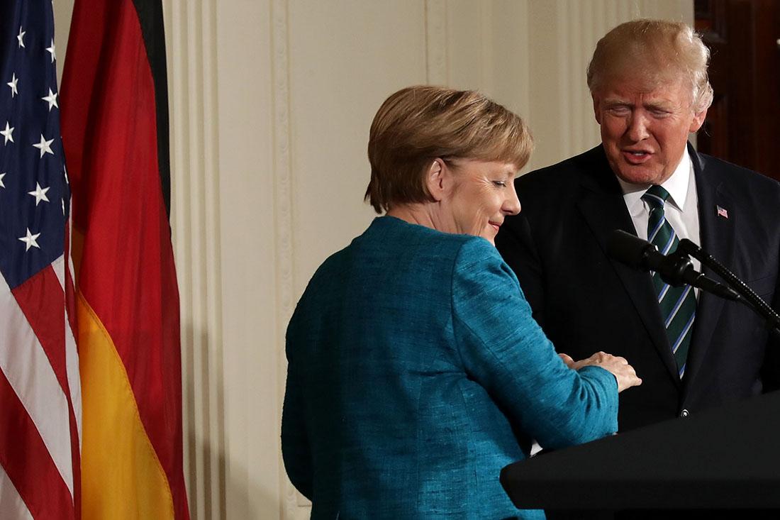 фото трамп меркель встреча группу виа гра