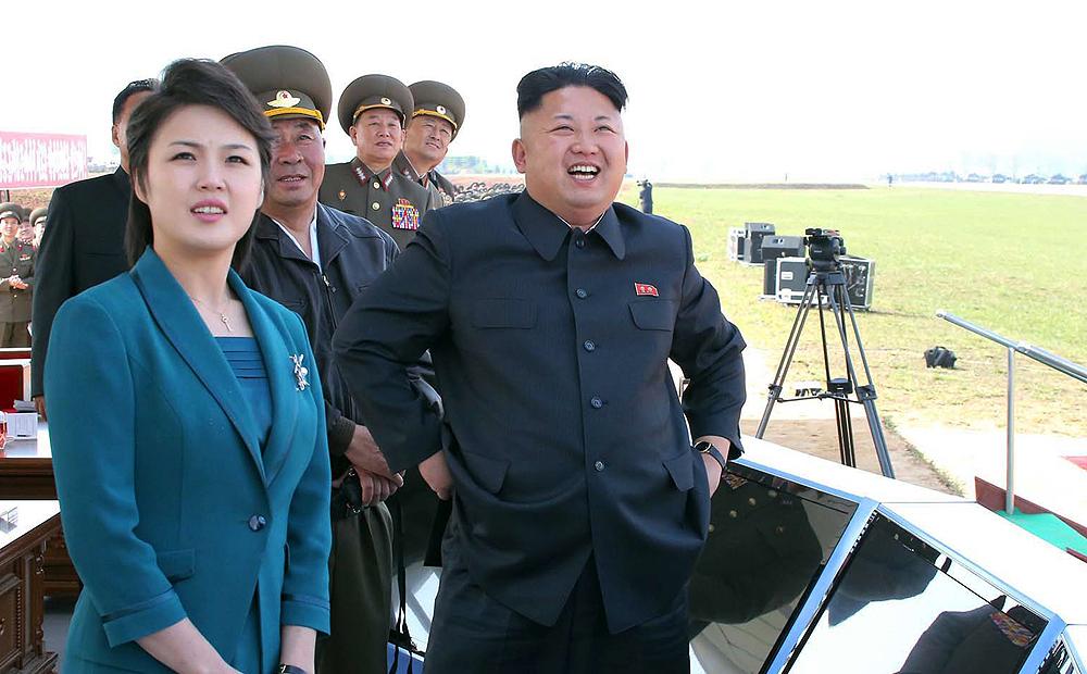 ким чен ын с женой фото асана