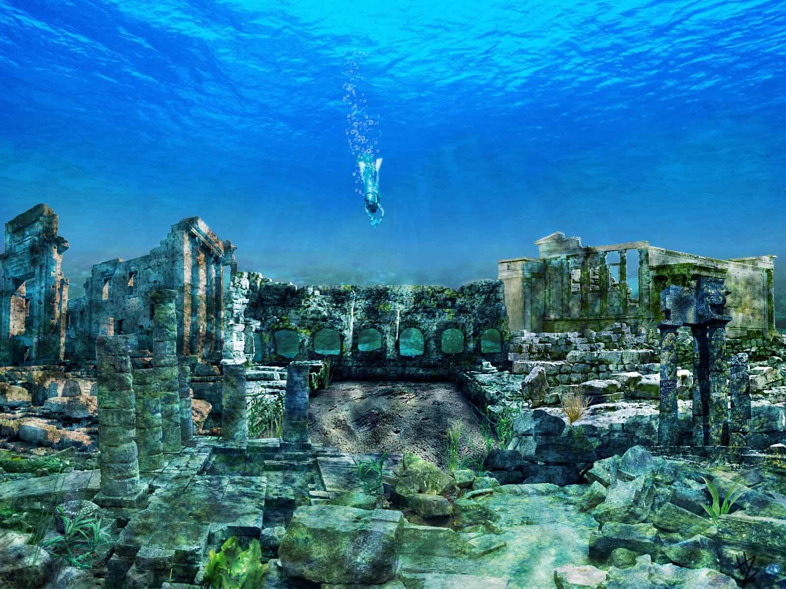Фото подводного города